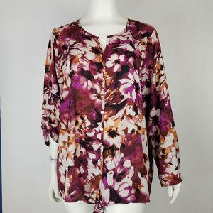 Avenue Blouse Tunic Floral Size 26/28